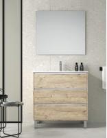 Mueble de baño con lavabo y espejo mueble auxiliar opcional de Duplach