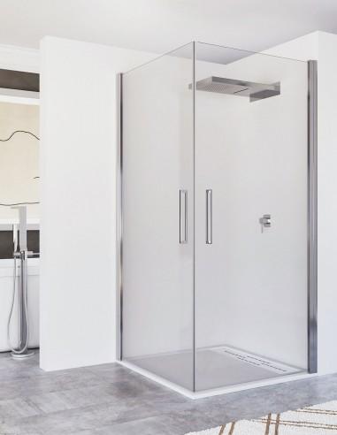 Mampara dos puertas abatibles modelo ZAFIRA de Seviban