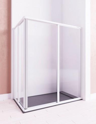 Mampara acrílica ducha modelo MERCURIO angular de Seviban