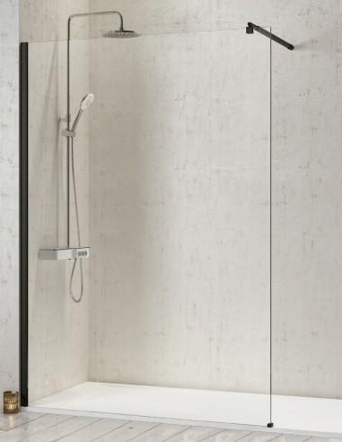 Panel fijo ducha negra modelo FRESH de Kassandra