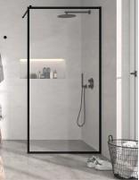 Mampara fija ducha perfil negro modelo FRESH de Kassandra