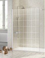 Mampara de ducha decorada blanca modelo FRESH de Kassandra