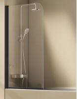 Mampara bañera negra modelo SALÓNICA 1 hoja abatible de Kassandra IMEX