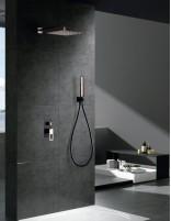 Grifería para ducha empotrada modelo SUECIA de Imex negro-oro rosa