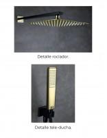 Grifería para ducha empotrada modelo SUECIA de Imex rociadores negro-oro