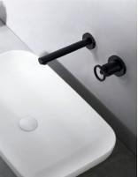 Grifo lavabo empotrado negro modelo OLIMPO de Imex