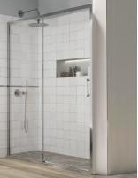 Mampara ducha corredera sin perfiles - inferiores modelo YOKO de Kassandra