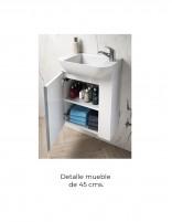 Mueble baño suspendido fondo reducido detalle 45
