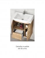 Mueble baño suspendido fondo reducido detalle 55