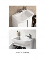 Mueble baño suspendido fondo reducido detalle lavabo