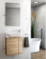 Mueble baño suspendido fondo reducido de 45 roble natural