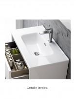 Mueble baño con lavabo fondo reducido detalle lavabo