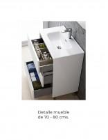Mueble baño con lavabo fondo reducido detalle mueble