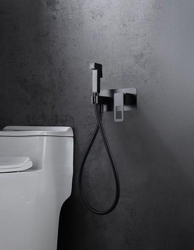 Ducha higiénica bidé - negra mate modelo SUECIA de Imex