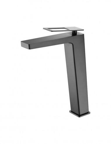 Grifo lavabo alto negro modelo SUECIA de Imex