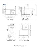 Mampara ducha Kassandra serie 300 - angular detalle perfilería