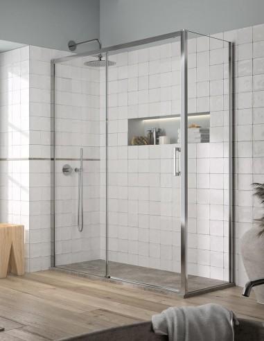 Mampara lateral ducha + 1 fijo y 1 corredera YOKO de Kassandra