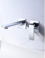 Grifo lavabo empotrado pared modelo FIYI cromo de Imex