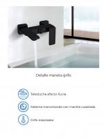Grifo bañera negro mate datos