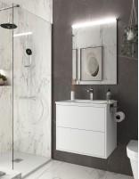 Mueble baño sin patas blanco