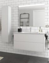 Mueble baño sin patas blanco de 100