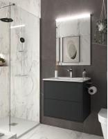 Mueble baño sin patas negro