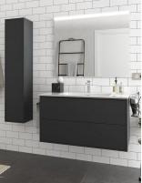 Mueble baño sin patas negro de 100