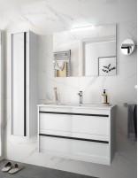 Mueble de baño suspendido Salgar blanco de 100