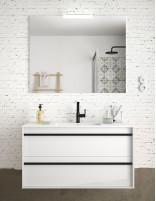 Mueble de baño suspendido Salgar blanco