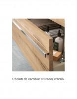Mueble de baño suspendido Salgar opción de cambiar tirador a cromo