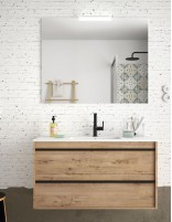 Mueble de baño suspendido Salgar roble ottispo de 80