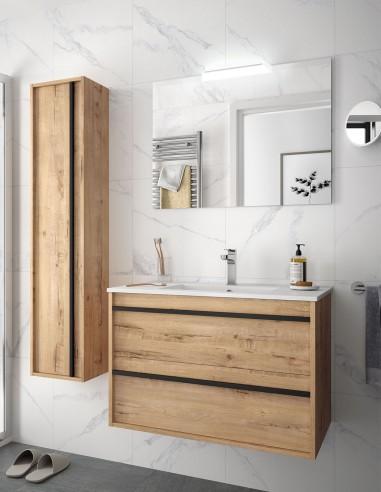Mueble de baño suspendido Salgar roble ottispo de 100