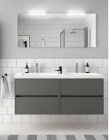 Mueble baño Noja Salgar modelo de 140 cm con dos senos