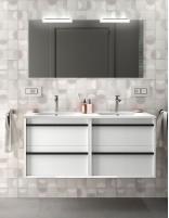 Mueble de baño 120 cm 2 senos modelo ATTILA de Salgar