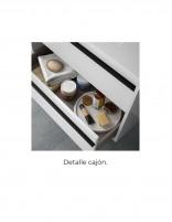 Mueble de baño 120 cm 2 senos detalle