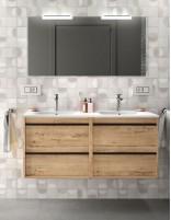 Mueble de baño 120 cm 2 senos roble ottispo