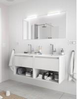 Mueble de baño Salgar Noja blanco brillo