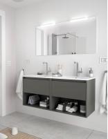 Mueble de baño Salgar Noja gris mate
