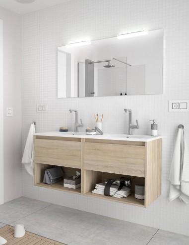 Mueble de baño Salgar Noja modelo 2 cajones y 2 estantes