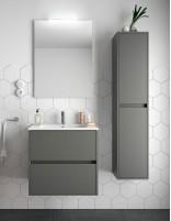 Mueble de baño Salgar modelo Noja gris mate
