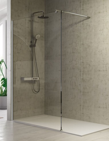 Mampara ducha fija 80 - 120 cm modelo FRESH de Kassandra
