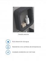 Accesorio de baño en forma de O serie ohu de Duplach