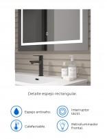 Espejo baño LED modelo rectangular de Duplach datos
