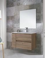 Mueble baño suspendido madera modelo CONTRAC de Socimobel