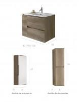 Mueble de baño con lavabo incluido medidas modelo contrac