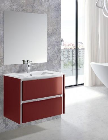 Mueble baño cajones modelo MOON de Socimobel con lavabo incluido.