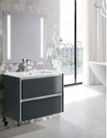 Mueble de baño de Socimobel lacado gris marengo