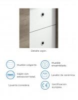 Mueble de baño con lavabo incluido en el precio de Socimobel