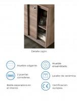 Mueble con lavabo incluido y dos puertas correderas Next de Socimobel