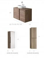Mueble de baño con lavabo y auxiliar de Socimobel